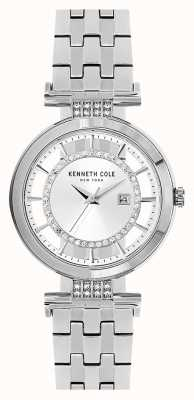 Kenneth Cole Womans Transparency Dial Silver Stainless Steel Bracelet KC15005003