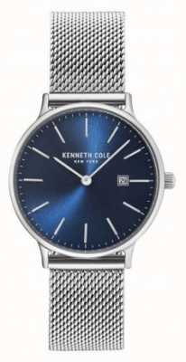 Kenneth Cole Womans Stainless Steel Mesh Strap Blue Dial KC15057005