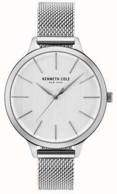 Kenneth Cole Womans Silver Dial Silver Stainless Steel Mesh Bracelet KC15056009