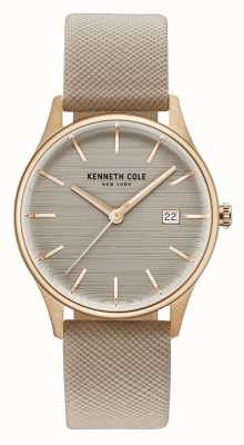Kenneth Cole Womans Brown Dial Brown Leather Strap KC15109003