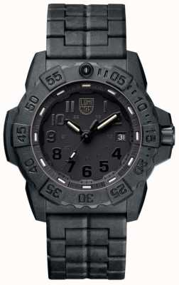 Luminox Mens Navy Seal 3500 Black Out Carbon Bracelet XS.3502.BO