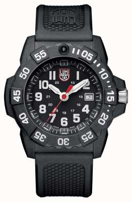 Luminox Navy Seal 3500 Series Black Dial Black PU Strap XS.3501