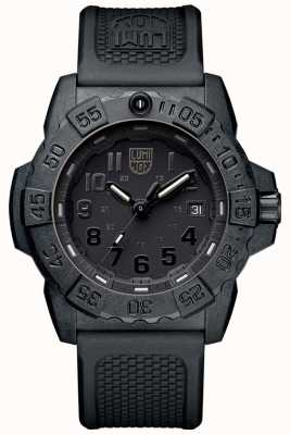Luminox Mens Navy Seal 3500 Black Out PU Strap XS.3501.BO