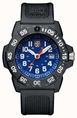 Luminox Mens Navy Seal 3500 Blue Dial PU Black Strap XS.3503