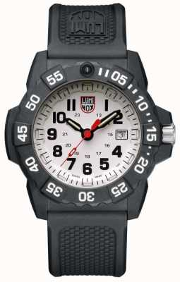 Luminox Navy Seal 3500 White Dial Grey Markers PU Black Strap XS.3507