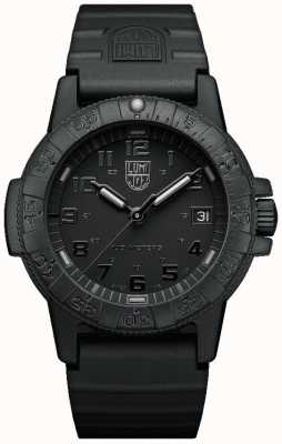 Luminox Sea Turtle 0300 Series Blackout Black PU Strap XS.0301.BO.L