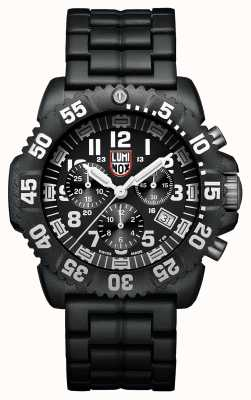 Luminox Navy Seal Colormark 3080 Black Dial Black PU Strap XS.3082