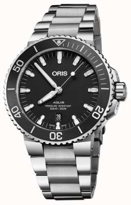 Oris Aquis Date Automatic Stainless Steel Black Dial 01 733 7730 4154-07 8 24 05PEB