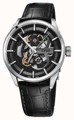 Oris Artix Skeleton Automatic Black Leather Strap 01 734 7714 4054-07 5 19 81FC