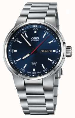 Oris Williams Day Date Automatic Stainless Steel Blue Dial 01 735 7740 4155-07 8 24 50S
