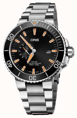Oris Aquis Date Automatic Stainless Steel Black Dial - EX DISPLAY 01 743 7733 4159-07 8 24 05PEBEXDISPLAY