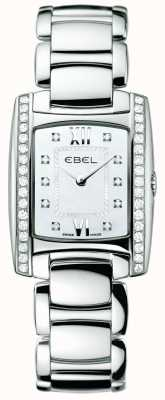 EBEL Womens Brasilia Diamond Stainless Steel 1215607