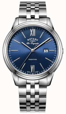 Rotary Mens Stainless Steel Bracelet Blue Dial GB90194/05
