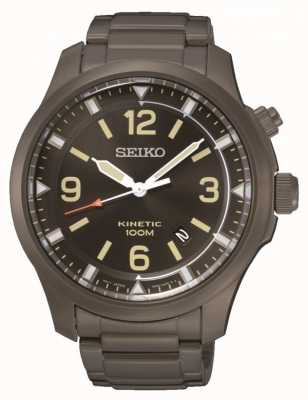 Seiko Mens Kinetic Black IP Stainless Steel SKA707P9