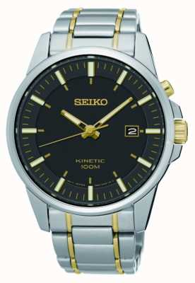 Seiko Mens Kinetic Two Tone Stainless Steel SKA735P1