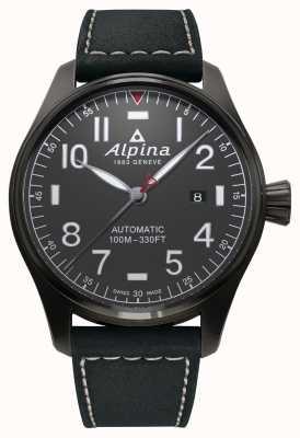 Alpina Men's Startimer Pilot Automatic Black Strap AL-525G4TS6