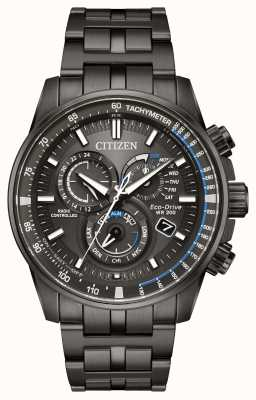 Citizen Mens Eco-drive Radio Controlled Black IP AT4127-52H