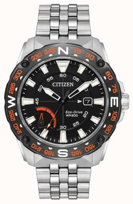 Citizen Mens Eco-drive Stainless Steel Bracelet Power Reserve AW7048-51E