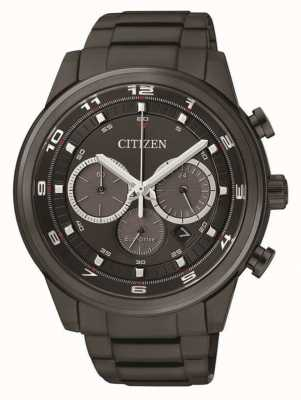 Citizen Mens Eco-drive Chronograph Black IP CA4035-57E