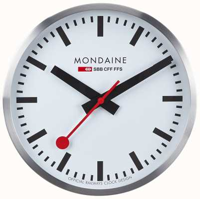 Mondaine (Refurbished - Excellent Cond.) Classic Wall Clock A990.CLOCK.16SBB-REFURB
