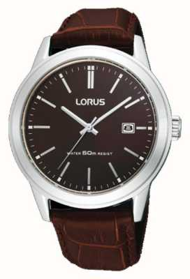 Lorus Mens Brown Leather Strap RH925BX9