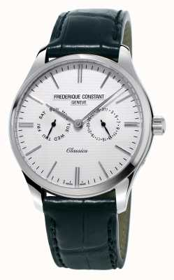 Frederique Constant Mens Classics Black Leather Strap/Green Nato Strap FC-259ST5B6