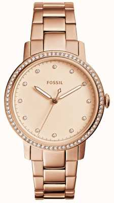 Fossil Womens Neely Rose Gold Watch ES4288