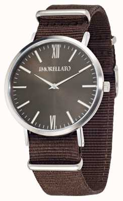 Morellato Mens Vela Brown Dial Brown Strap Watch R0151134007
