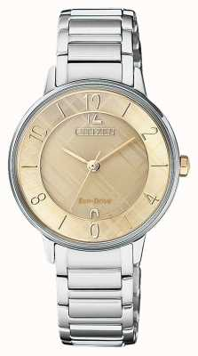 Citizen Womens Silhouette Patterned Dial Watch EM0526-88X