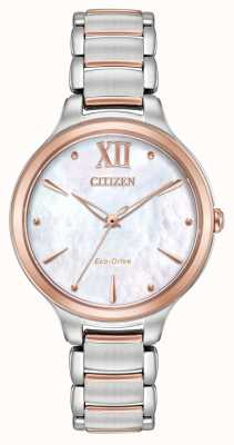 Citizen Womens L Two Tone Rose Gold Watch EM0556-87D