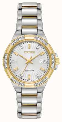 Citizen Womens Riva Diamond Two Tone Stainless Steel Watch EW2464-55A
