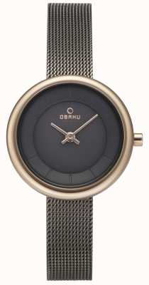 Obaku Womans Stille Granite Mesh Bracelet Watch v146LXVJMJ