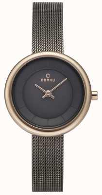 Obaku Womans Stille Granite Mesh Bracelet Watch v146LXVJMJ