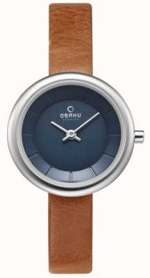 Obaku Womans Stille Brown Leather Watch V146LXCLRZ