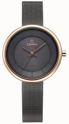 Obaku Womans Lys Granite Mesh Bracelet Watch V206LRVJMJ
