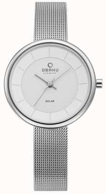 Obaku Womans Lys Stainless Steel Mesh Bracelet Watch V206LRCWMC