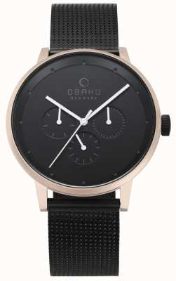 Obaku Mens Venlig Night Mesh Watch V208GMVBMB