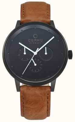 Obaku Mens Venlig Tan Leather Watch V208GMBBRZ