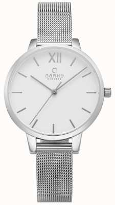 Obaku Womens Liv Stainless Steel Mesh Watch V209LXCIMC