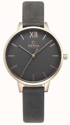 Obaku Womens Liv Pebble Leather Watch V209LXVJRJ