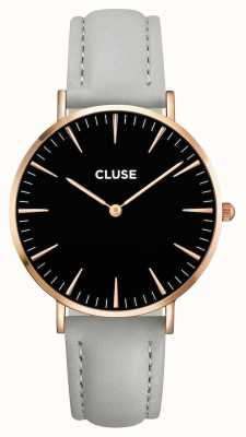 CLUSE La Boheme Rose Gold Case Black Dial/Grey Strap CL18018