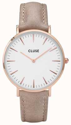 CLUSE La Boheme Rose Gold Case White Dial/hazel Strap CL18031