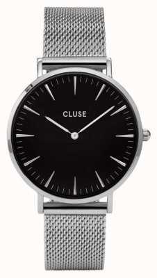 CLUSE La Boheme Silver Case Black Dial/silver Mesh Strap CW0101201004