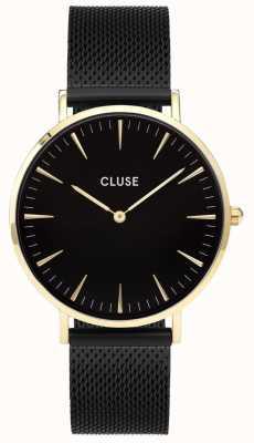 CLUSE La Boheme Gold Case Black Dial/black Mesh Strap CL18117