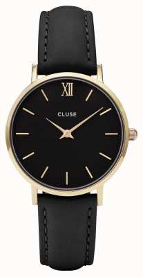 CLUSE Minuit Gold Case With Black Dial/black Strap CL30004