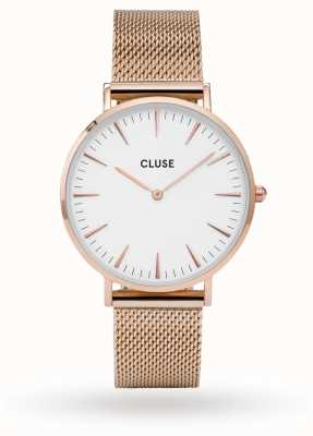 CLUSE La Boheme Rose Gold Case White Dial CL18112 CW0101201001