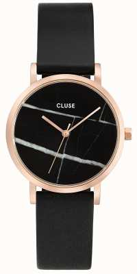CLUSE La Roche Rose Gold Case Marble Dial/black Strap CL40104
