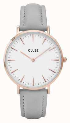 CLUSE La Boheme Rose Gold Case White Dial/grey Strap CW0101201007