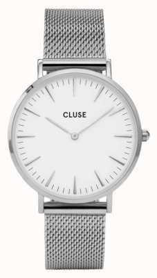 CLUSE La Boheme Silver Case White Dial/silver Mesh Strap CW0101201002
