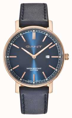 GANT Mens Nashville Blue Leather Strap Blue Dial GT006007